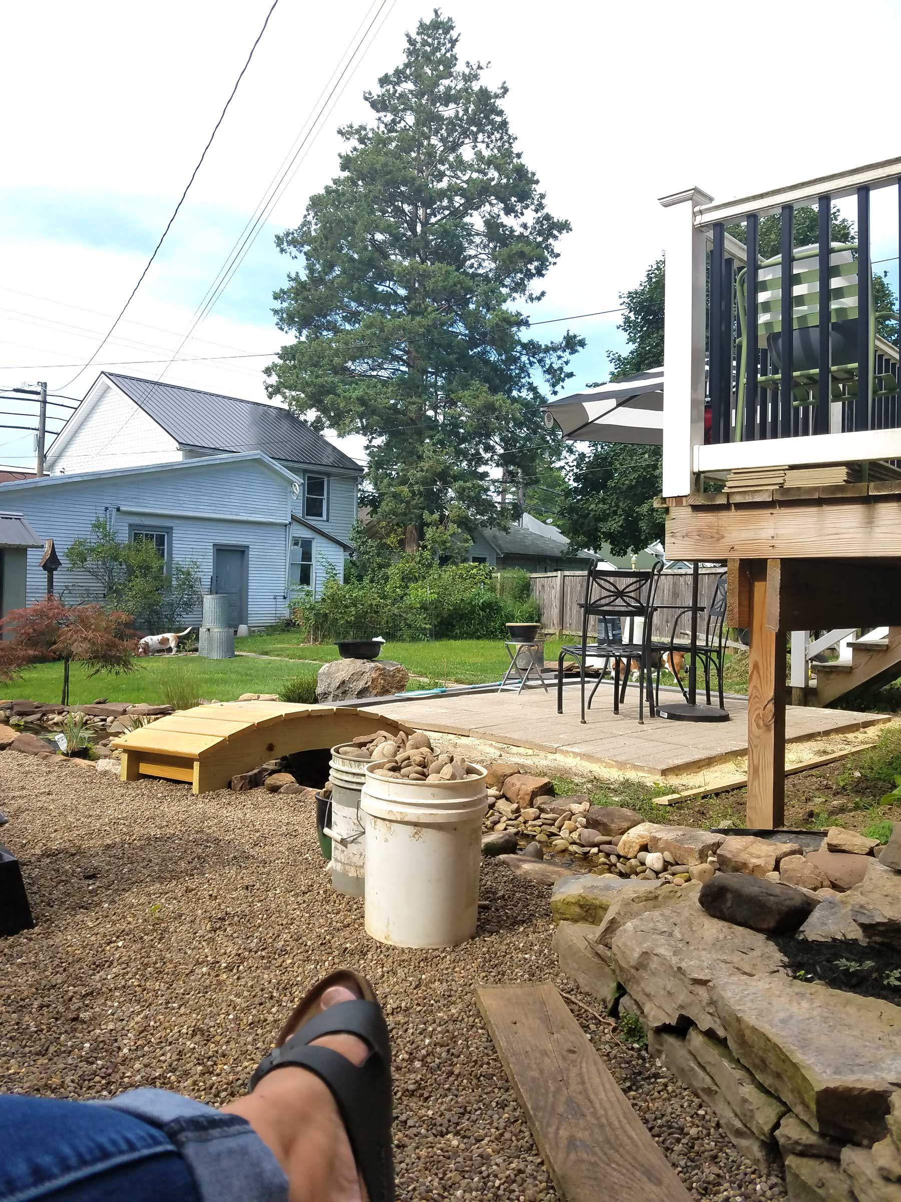 backyard project patio progress