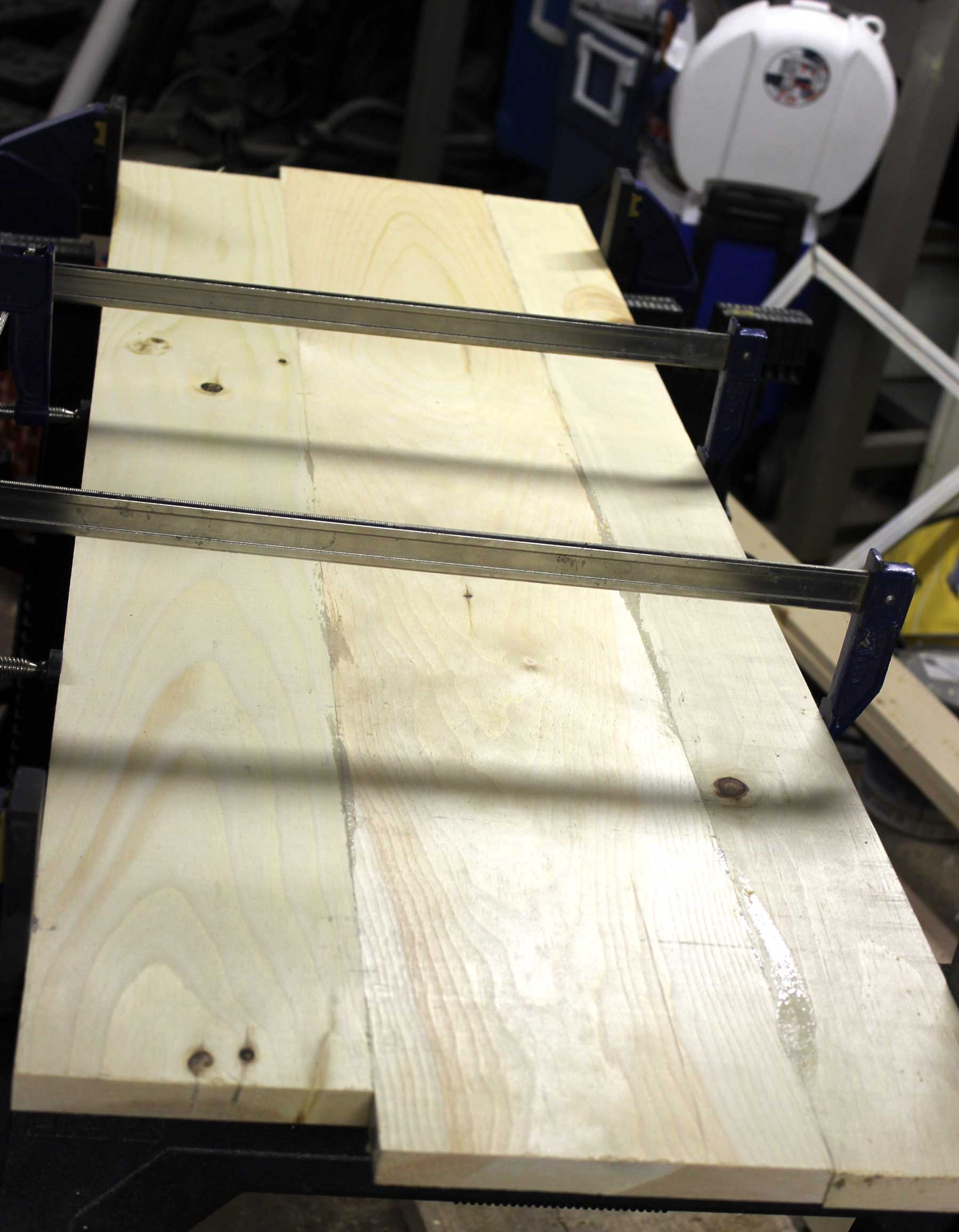 bench-top-clamped
