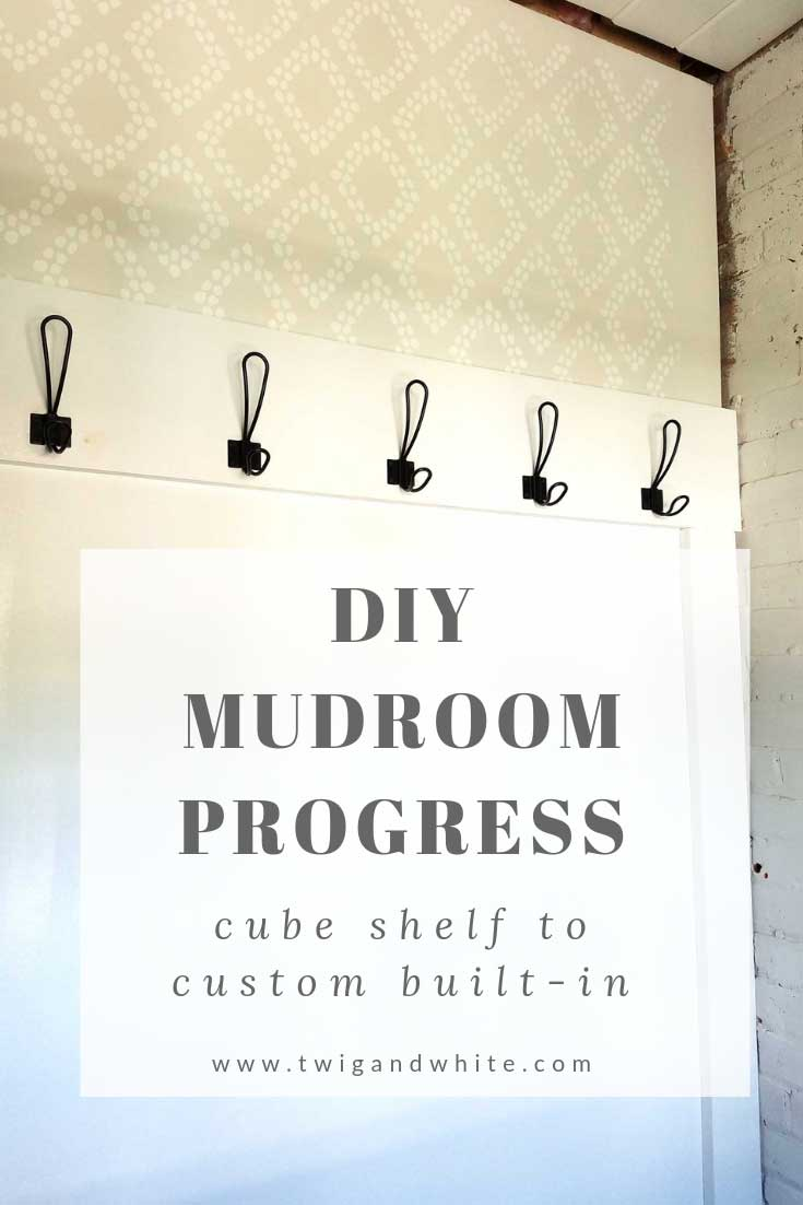 diy mudroom project
