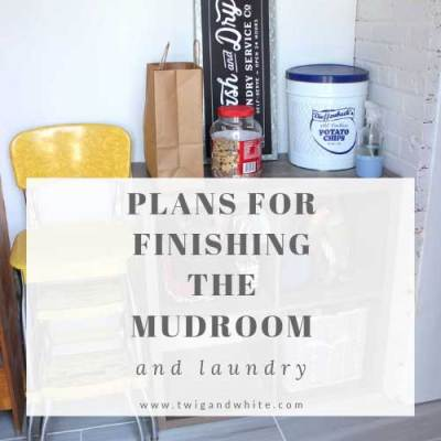 Plans for Finishing the Mudroom and Laundry