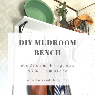 Mudroom Project Reveal – 97% Complete