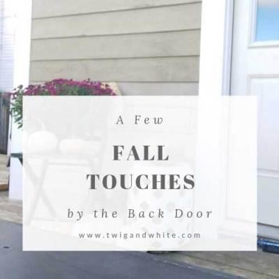 Rear Entry Update – A Few Fall Touches on the Deck