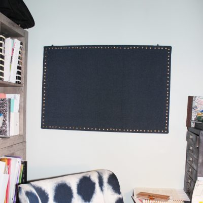 DIY Upholstered Cork Board for the Office