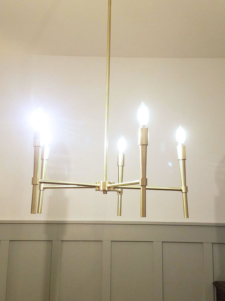 modern lighting in den