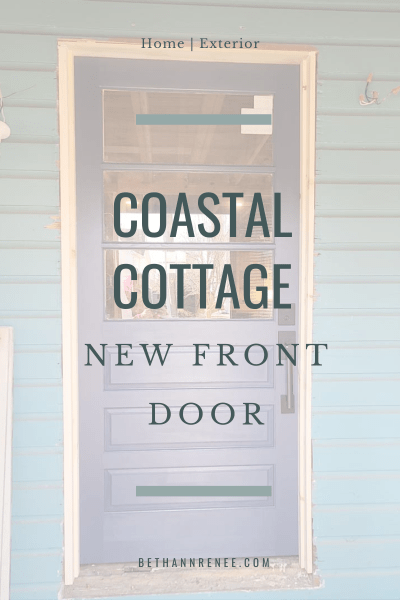 coastal cottage new front door