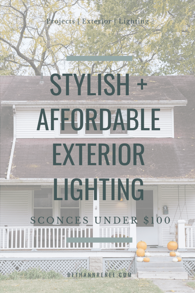 stylish and affordable exterior lighting sconces under 100