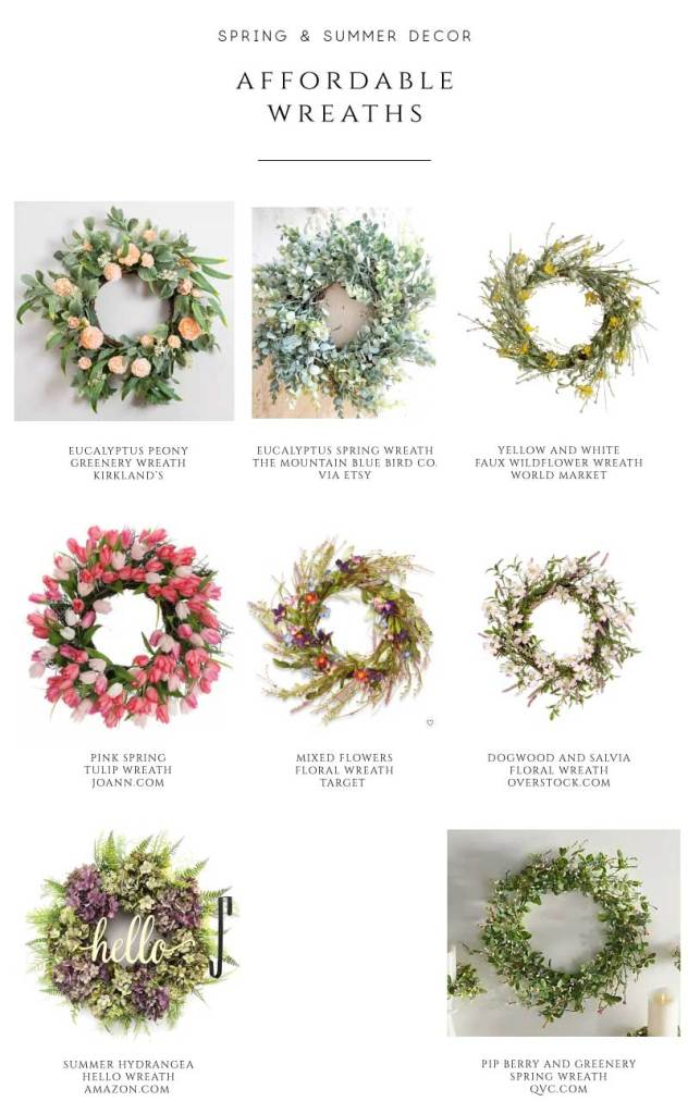 affordable spring and summer wreaths
