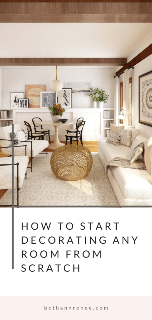 how to start decorating any room from scratch
