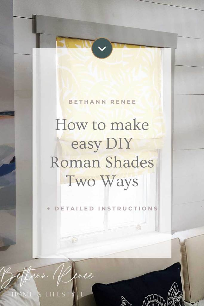 how to make easy diy roman shades two ways