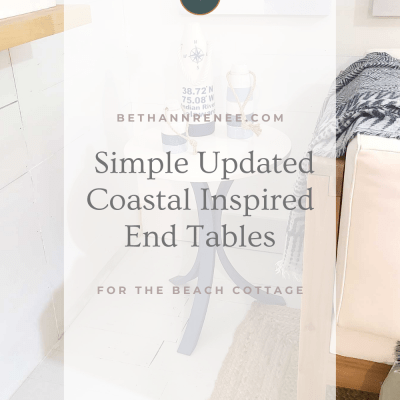Updated Coastal Style End Tables