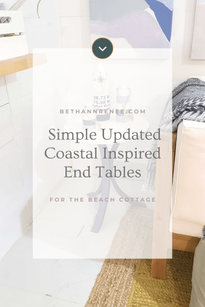 simple updated coastal inspired end tables