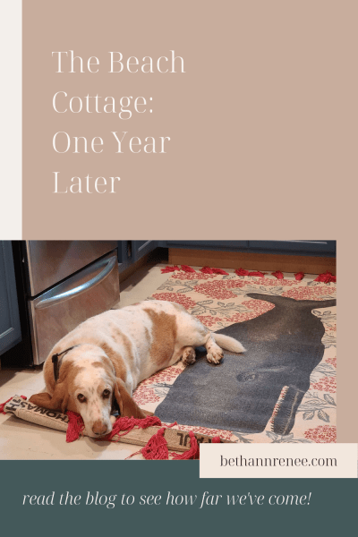 the beach cottage one year later