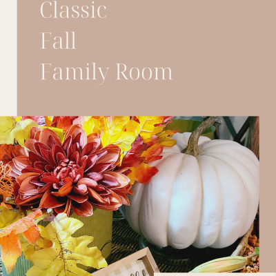 Warm and Classic Fall Family Room