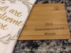 2019 Choc Cook Off Winner