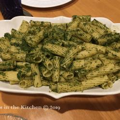 Pesto Rigatoni Dinner