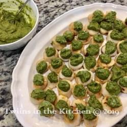 Pistachio Pesto Scallops