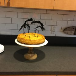 Batty Pumpkin Cheesecake for a Halloween Party