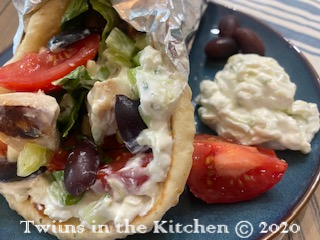 Greek Pita Bread with Chicken Souvlaki
