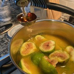 figs cooking in orange juice