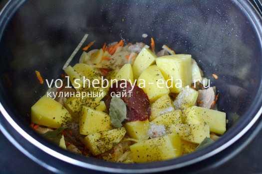 Приготовить мясо с картошкой с мультиварке – Тушеная ...