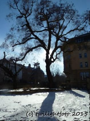 Schulhof Ratsgymnasium - verfremdet