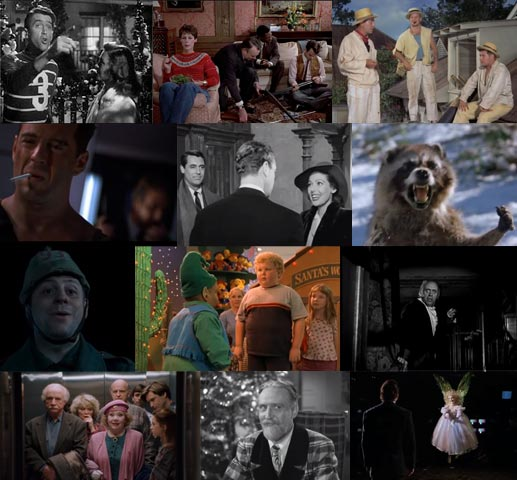 12 thumbnails of Christmas movies