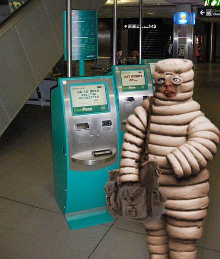 michelin zombie lovechild at check-in