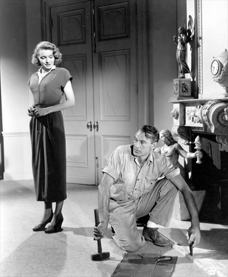 Patricia Neal and Gary Cooper in The Fountainhead