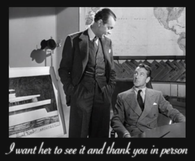 Raymond Massey and Gary Cooper