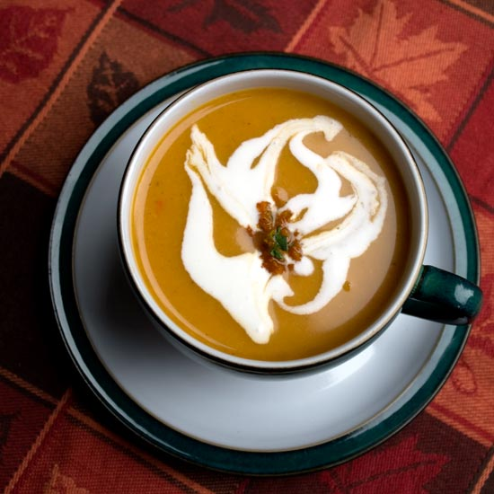 cup of Balti butternut squash soup