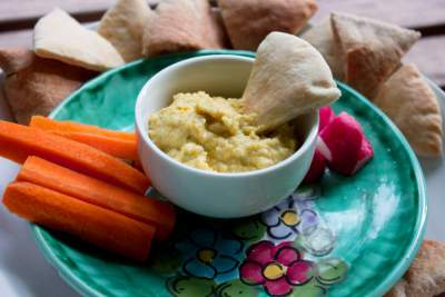Roasted Yellow Pepper Hummus