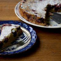 Gluten Free and Dairy Free Lemon Cherry Cake