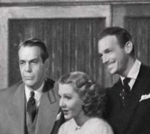 Raymond Massey, Jean Arthru and Douglas Fairbanks Jr
