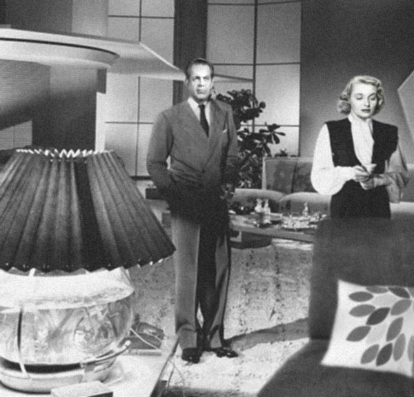 Raymond Massey and Patricia Neal in a rewriting of The Fountainhead