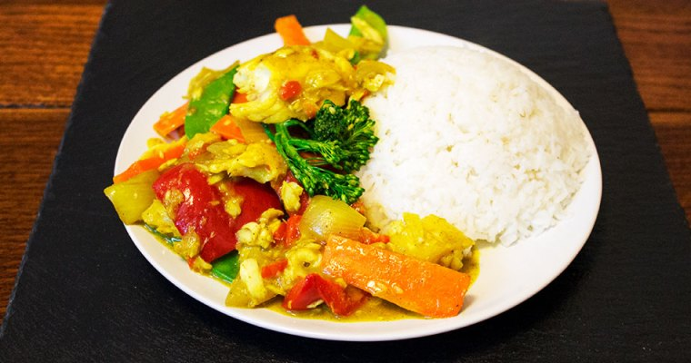 Fruit 'n' Nutty Fish Curry