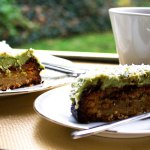 Lime and Coconut Loaf with Sweet Avocado and Lime Cream
