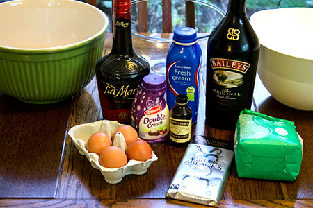 ingredients for baby guinness mousse