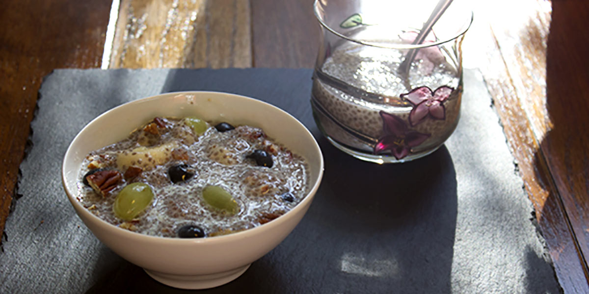 Chia Seed Apple Pudding