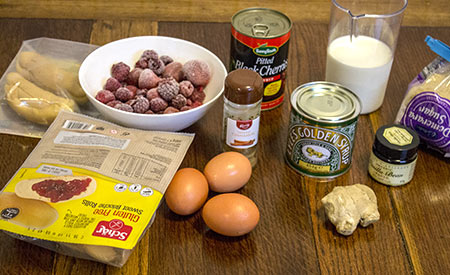 ingredients for berrylicious deep dish french toast