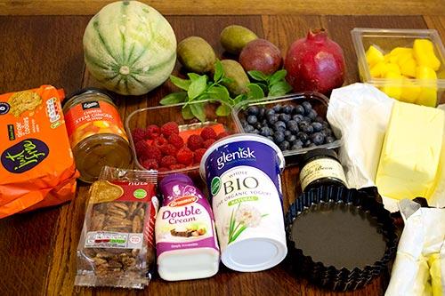 ingredients-fruit-salad-cake