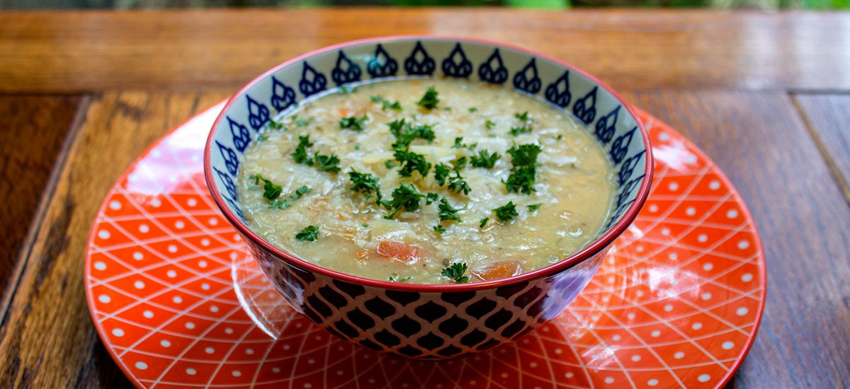 Clear Out the Cupboards Turkey Rice and Chickpea Soup