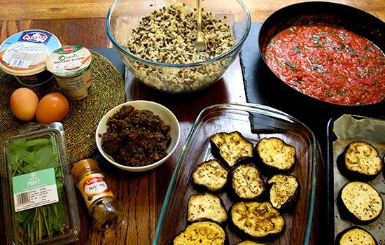 Mediterranean Veggie Bake Ingredients