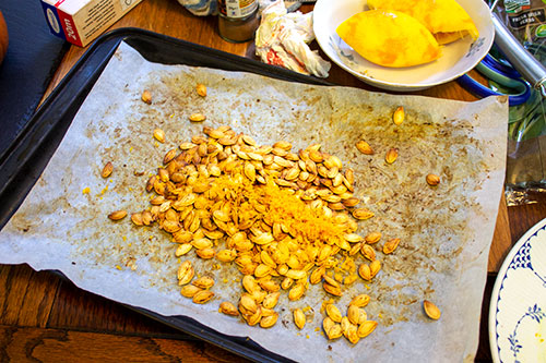roasted seeds with orange zest
