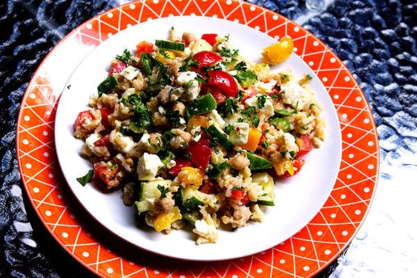 bulgarian salad plate