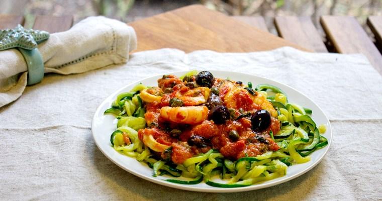 Courgetti Seafood Marinara