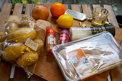 ingredients for Portugues baked chicken