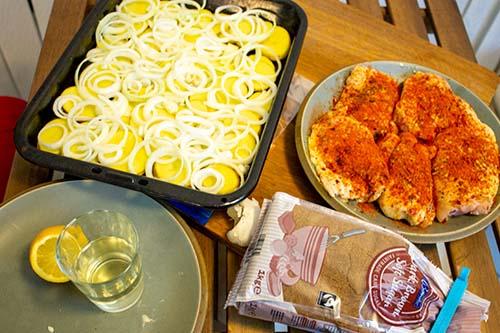 Portuguese Chicken Dinner pre-bake