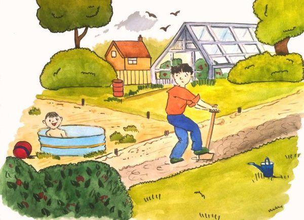Как я провел летние каникулы рисунки: Картинки рисунков на ...