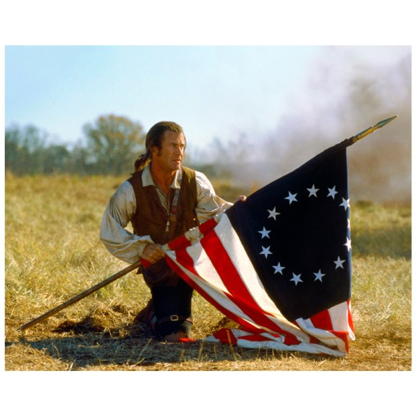 Mel Gibson Signed 16x20 The Patriot w/ Flag Photo