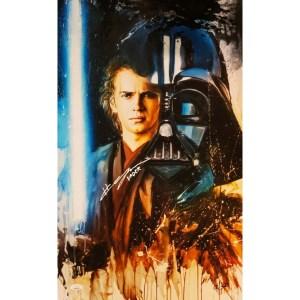 Rob Prior Anakin Skywalker/Darth Vader print signed by Hayden Christensen